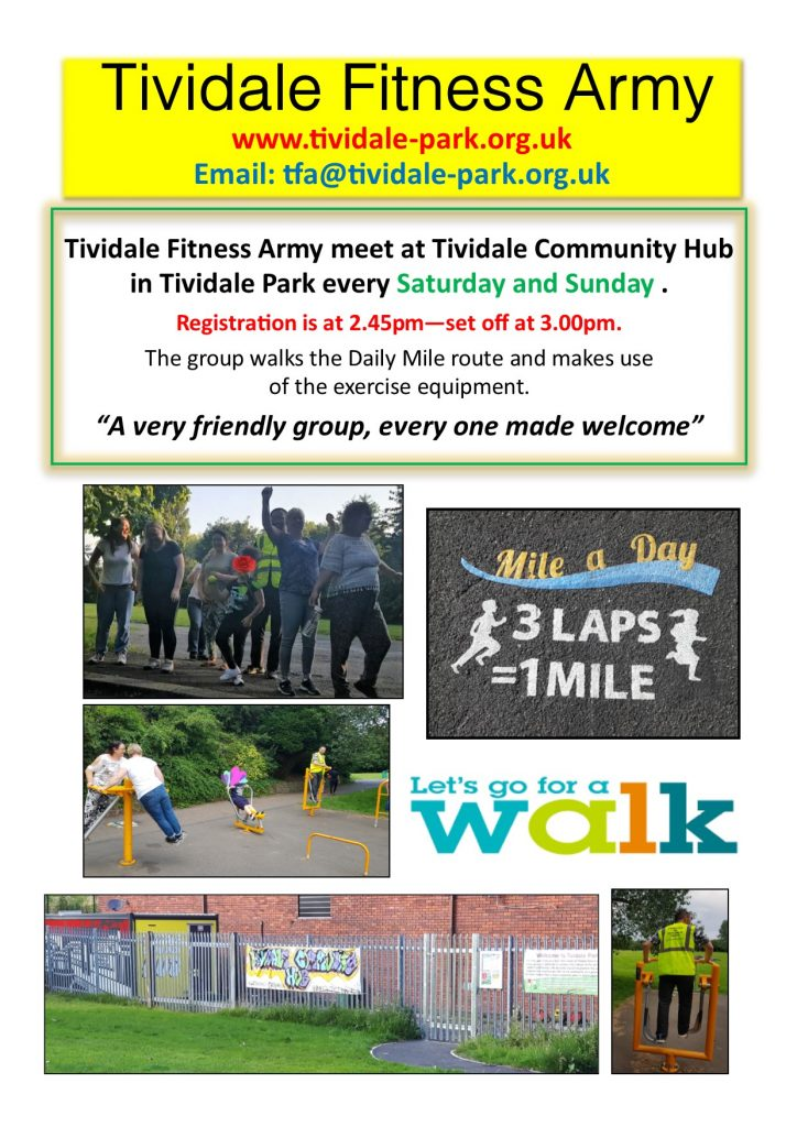 Post describing the activities of Tividale Fitness Army